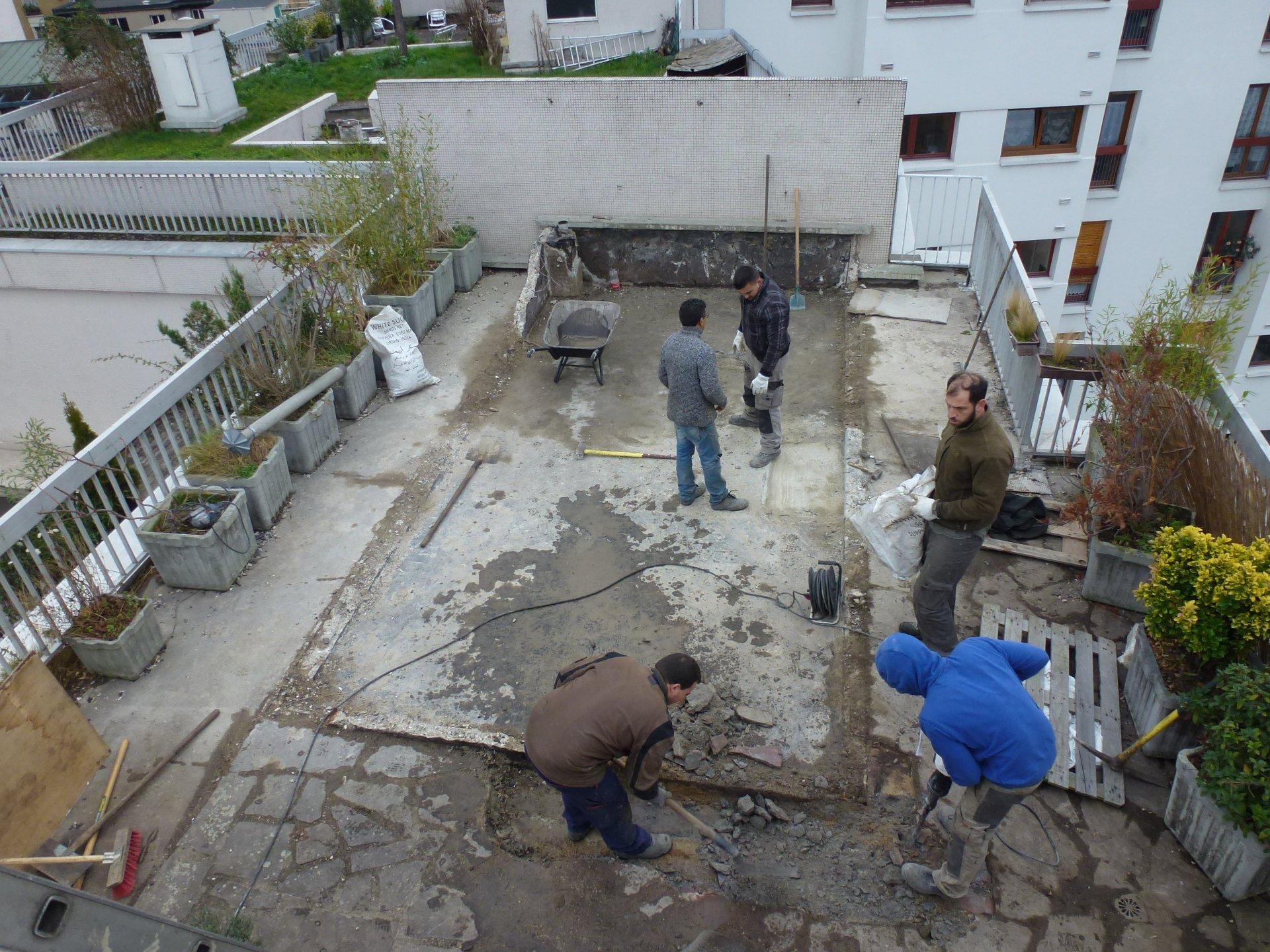 Travaux d'étanchéité de toiture et toiture terrasse à