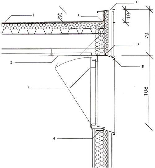 Coupe type sur une toiture terrasse plate avec étanchéité