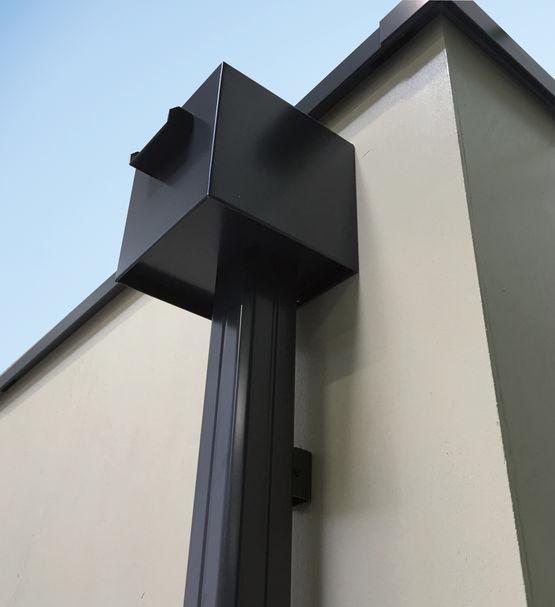 Boîte à eau en aluminium pour toitures terrasses