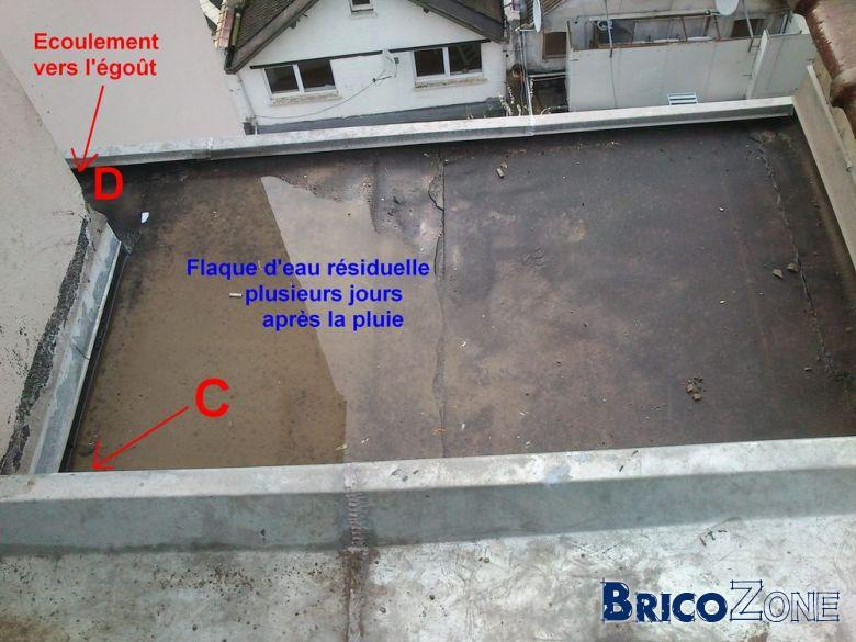 Réfection toiture plate malfaçon et non respect du devis