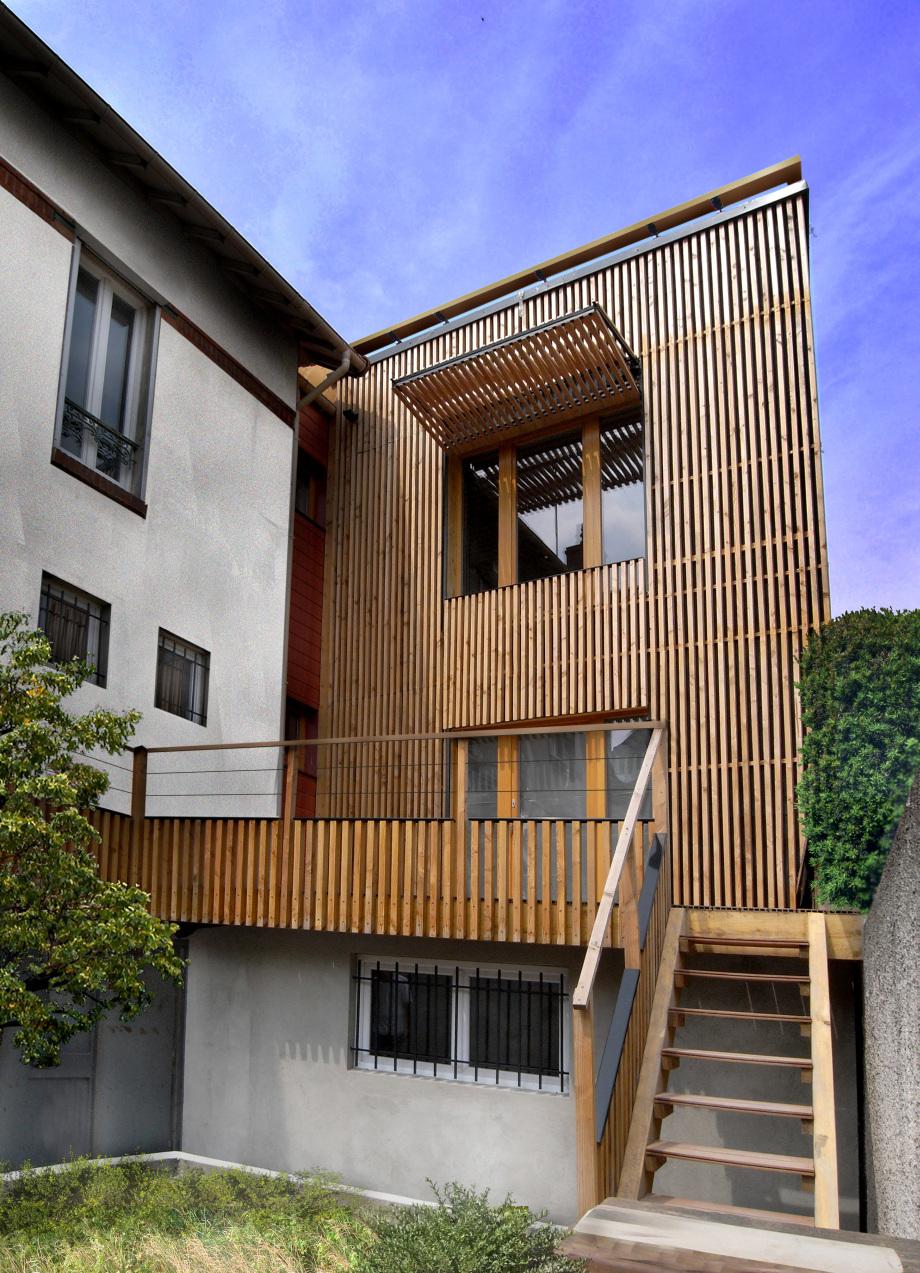 Extension toit Terrasse Extension Passive En Bois 2010 T Design Architecture