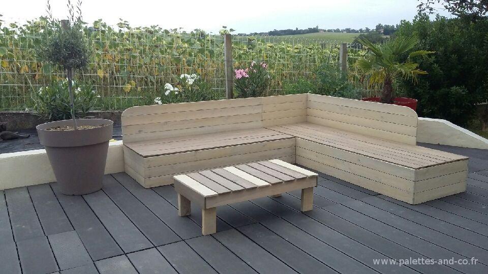Banquette de terrasse en palette veranda styledevie