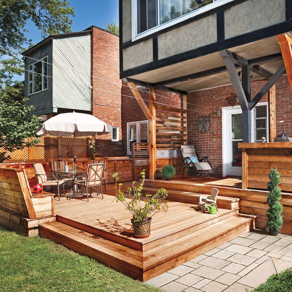 patio banc bois Recherche Google Outdoor