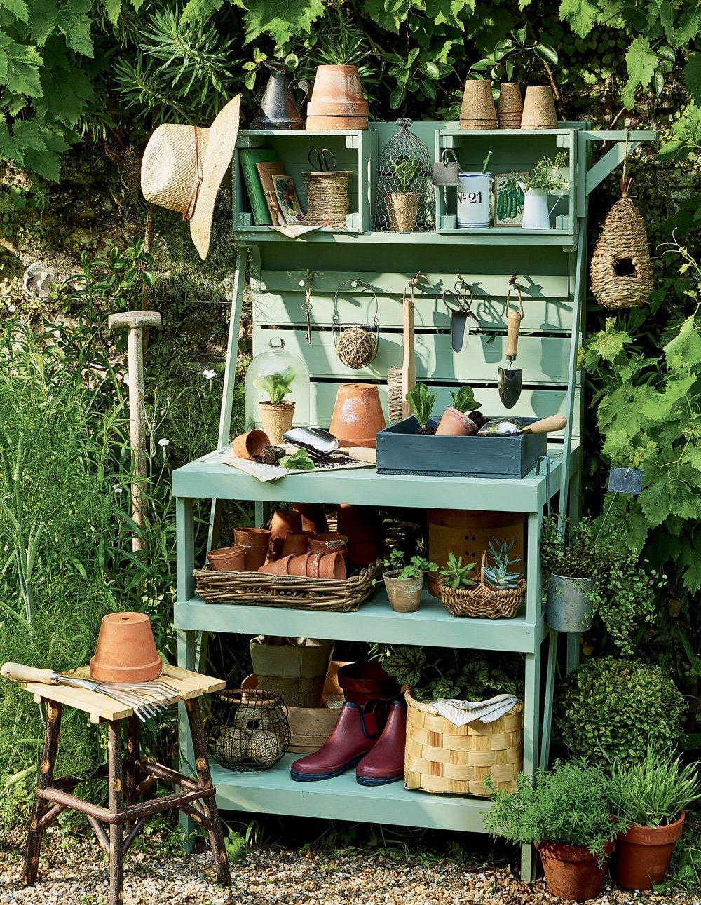 Marie Claire Maison Jardin Recup fabriquer table de jardin table salon de jardin fait maison