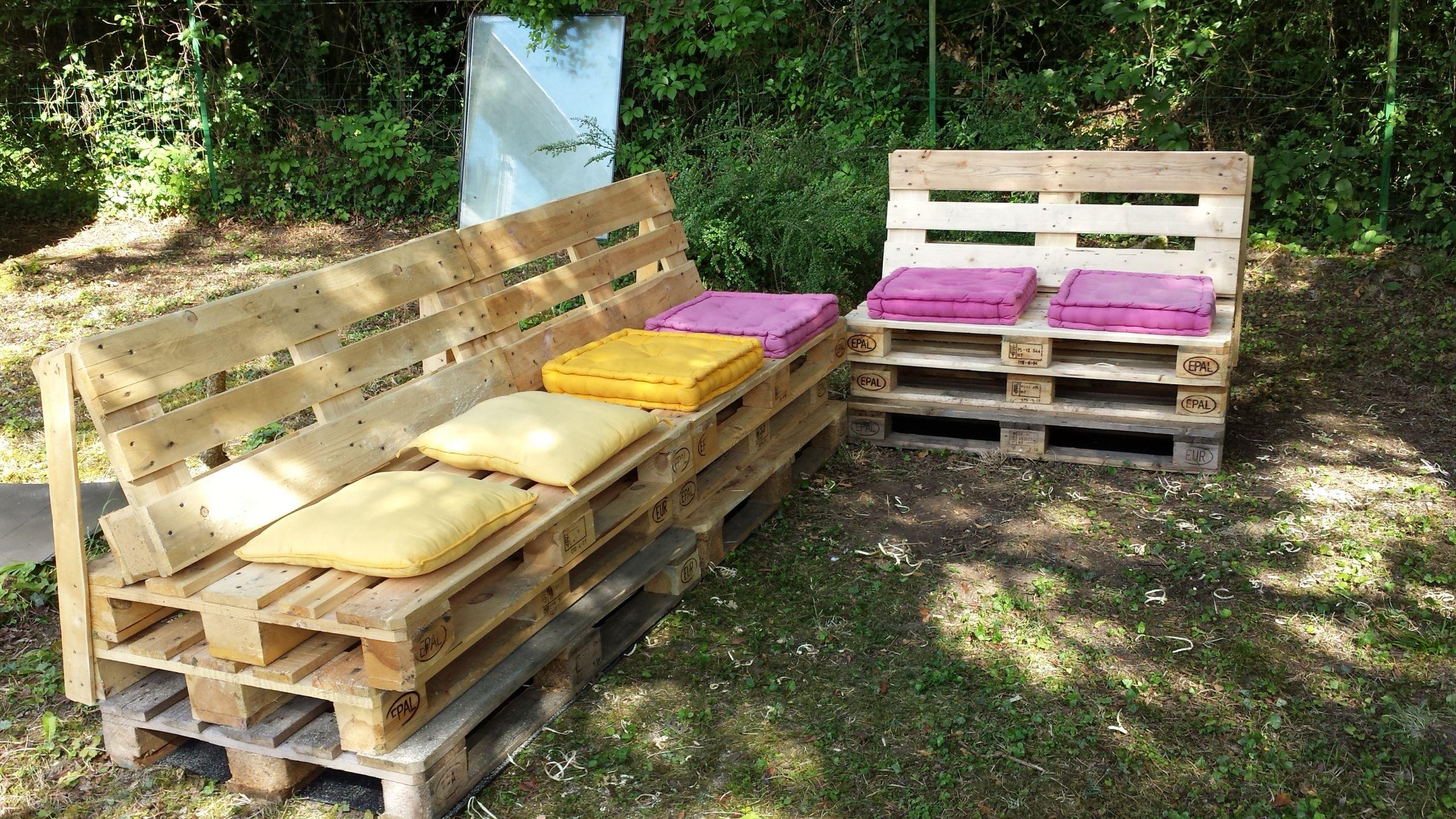 Faire Un Banc En Palette fabriquer un salon de jardin en bois fabriquer salon de