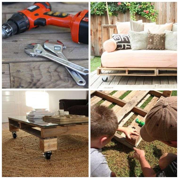 Fabriquer salon de jardin en palette de bois tuto canapé