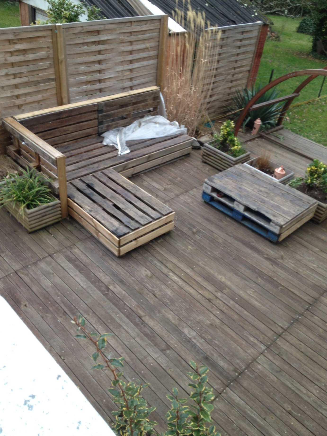 ment Fabriquer Un Salon De Jardin Avec Des Palettes