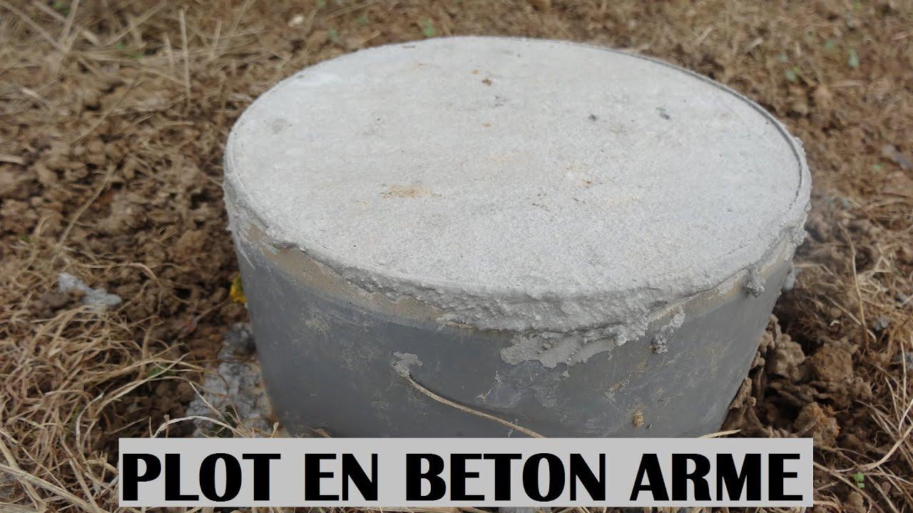 faire un plot en beton armé béton réaliser à la