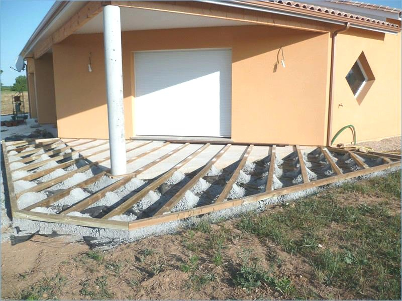 Terrasse bois faire Mailleraye jardin