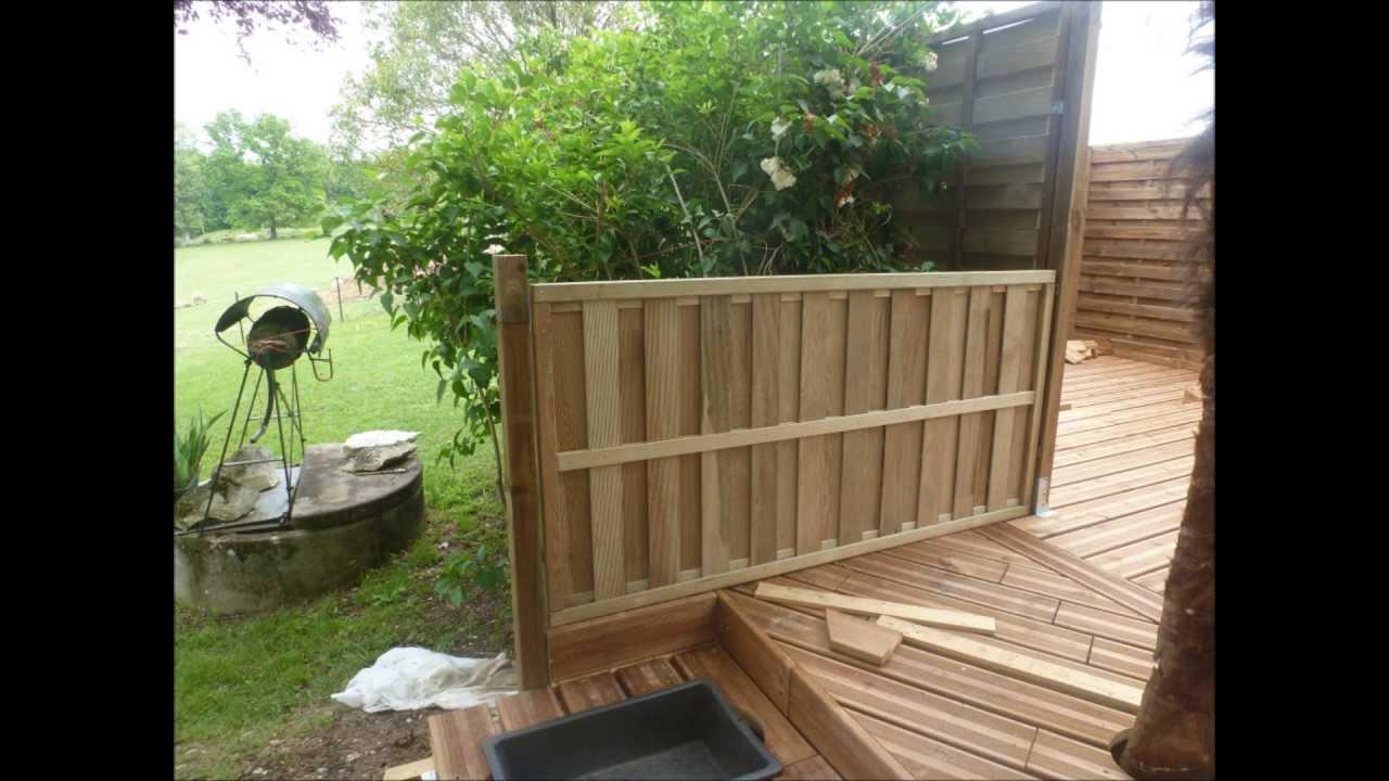 Terrasse en bois sur terrain non stabilisé