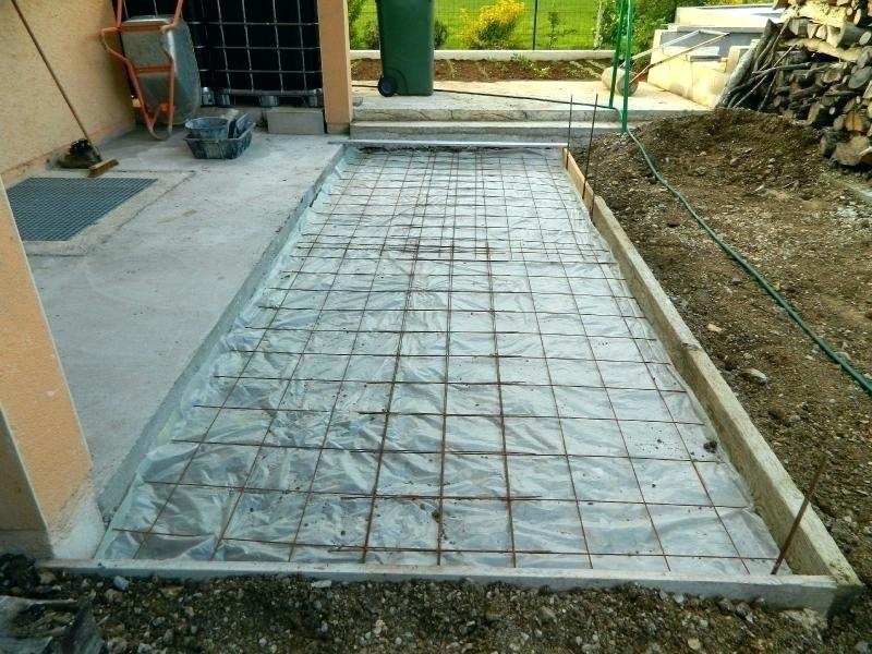faire terrasse beton