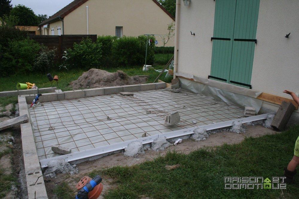 Les travaux de la terrasse se poursuivent Maison et