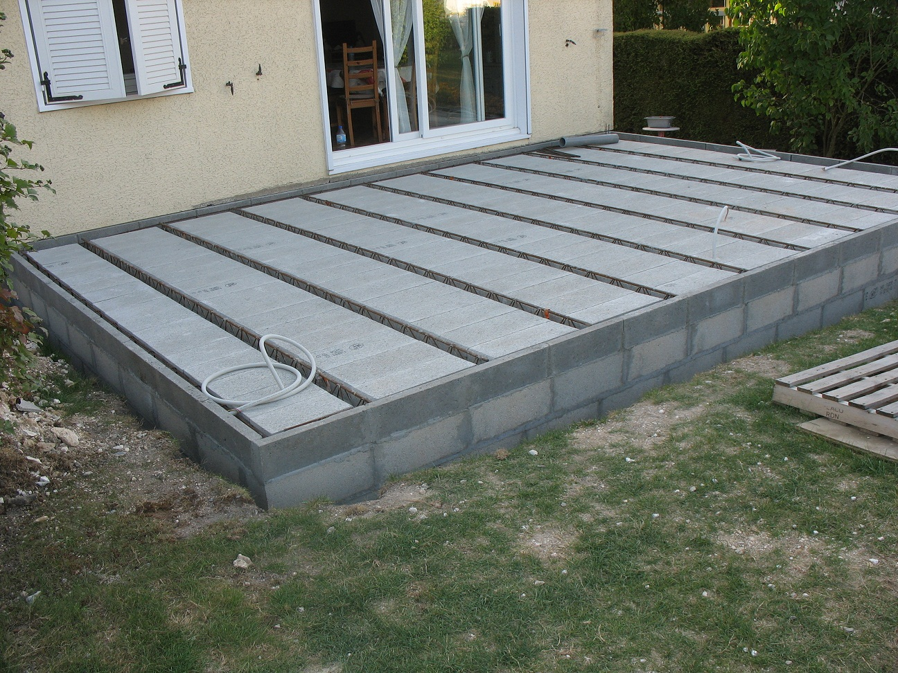 Faire une terrasse en beton Wikilia