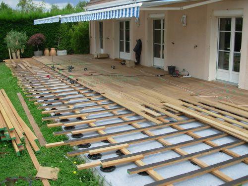 Faire une terrasse en bois sur dalle beton Mailleraye