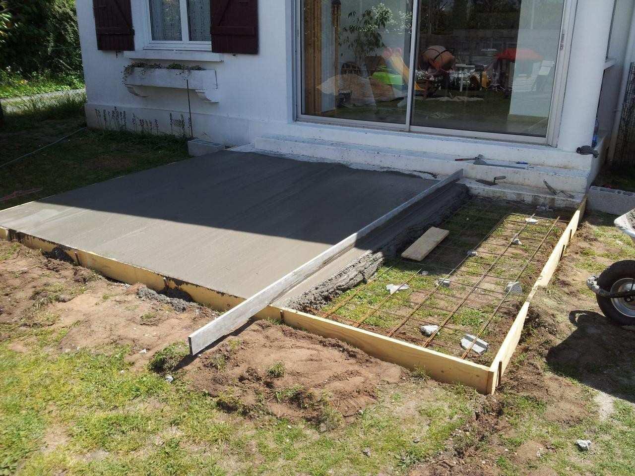 Faire terrasse en beton veranda styledevie