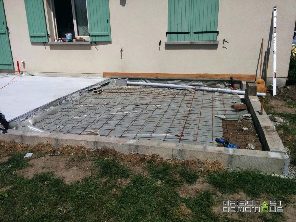 Faire une terrasse dalle beton veranda styledevie