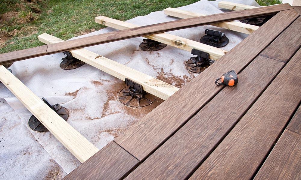 Faire une terrasse sur lambourdes