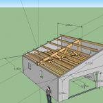 Faire Une toiture Faire Une toiture De Garage Plan Charpente Bois 1 Pente