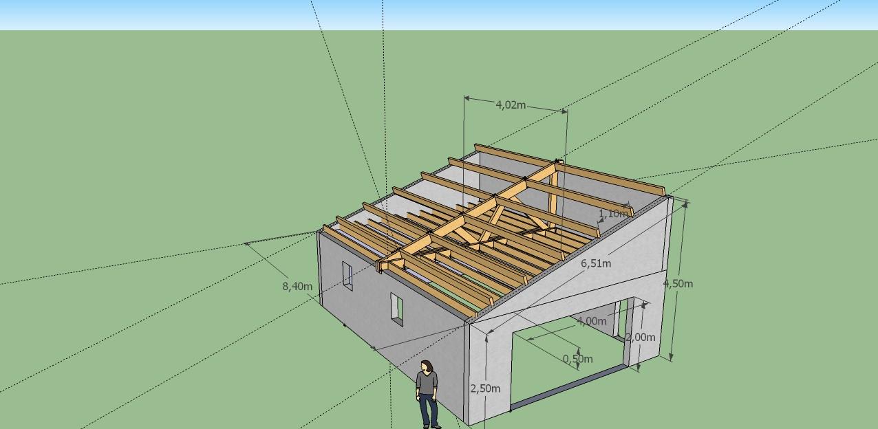 Faire Une Toiture De Garage Plan Charpente Bois 1 Pente