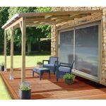 Faire Une toiture Pergola Adossée Bois Traité toiture Polycarbonate 3x3 7 M