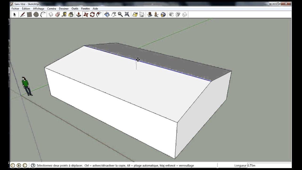 tracer un toit sur sketchup