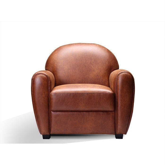 FAUTEUIL CLUB Achat Vente fauteuil Pin tissu