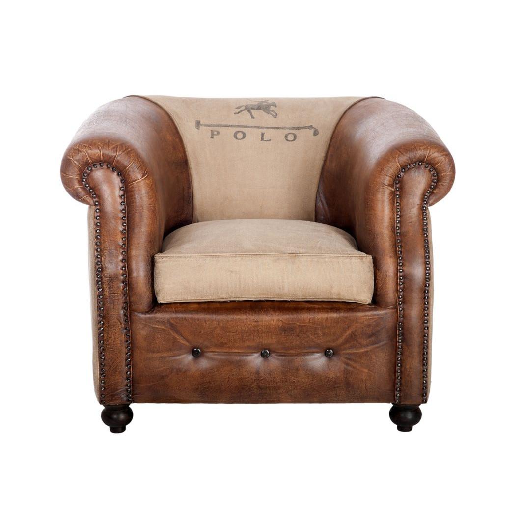 Salon – canape cuir vintage forium