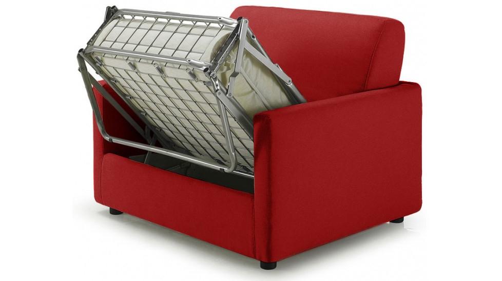 Fauteuil lit pas cher tissu rouge Fauteuil convertible