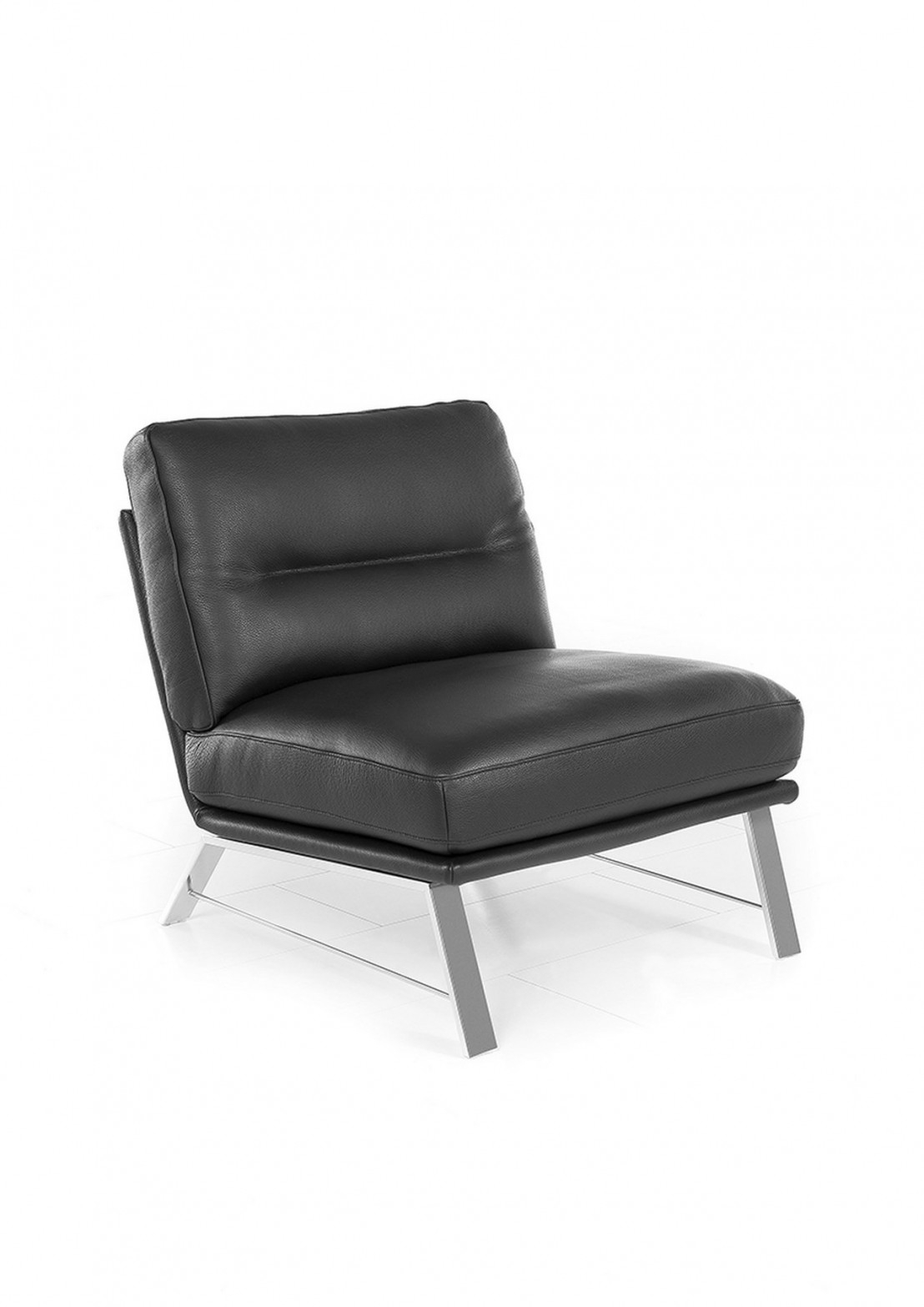 Fauteuil AM LOUNGY design en cuir sans accoudoir pact