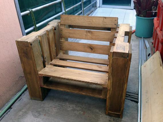 Fabriquer une chaise avec des palettes