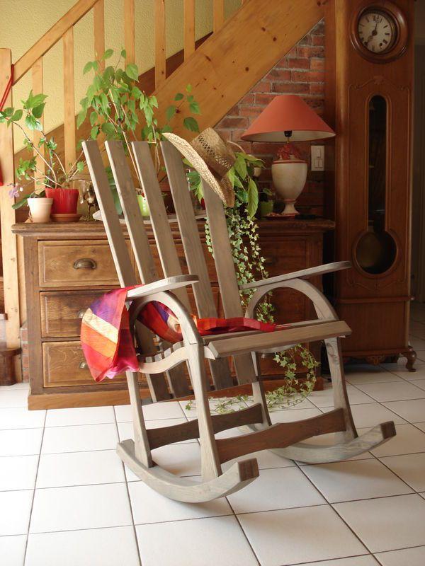 Waouh fauteuil à bascule en palette