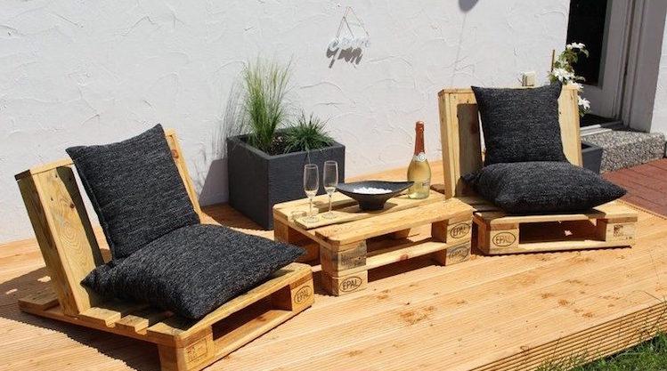 Fauteuil En Palette Facile Table Basse Salon De Jardin Palette Fabriquer En Bois 35
