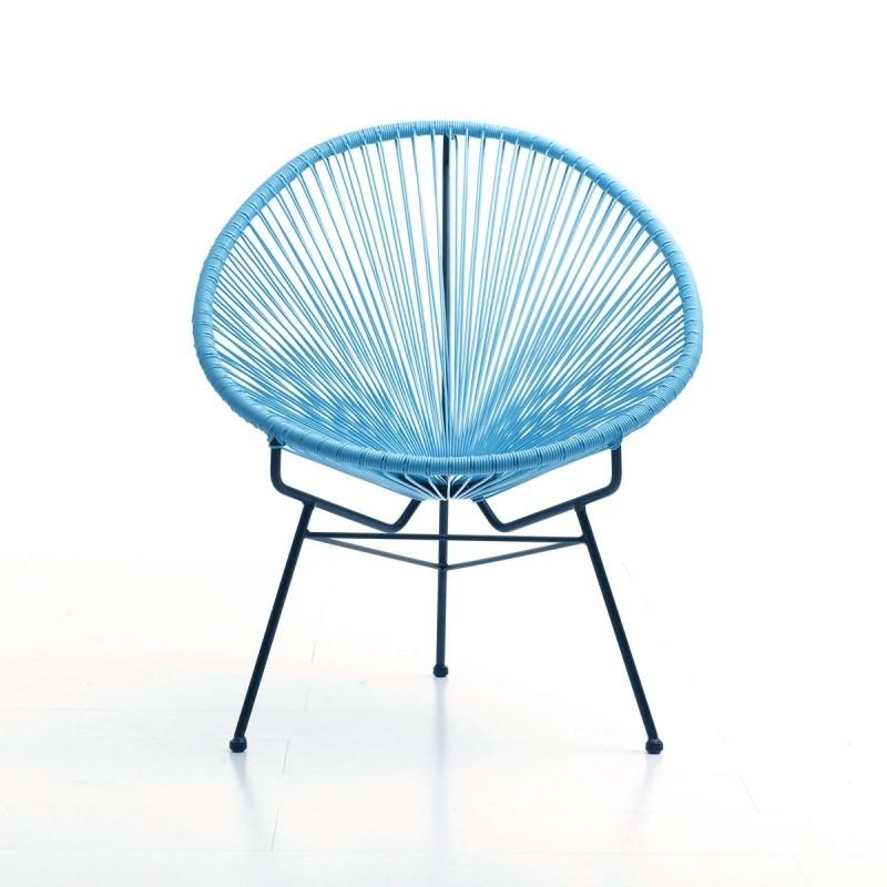 Fauteuil de jardin design Bleu Soleil LesTendances