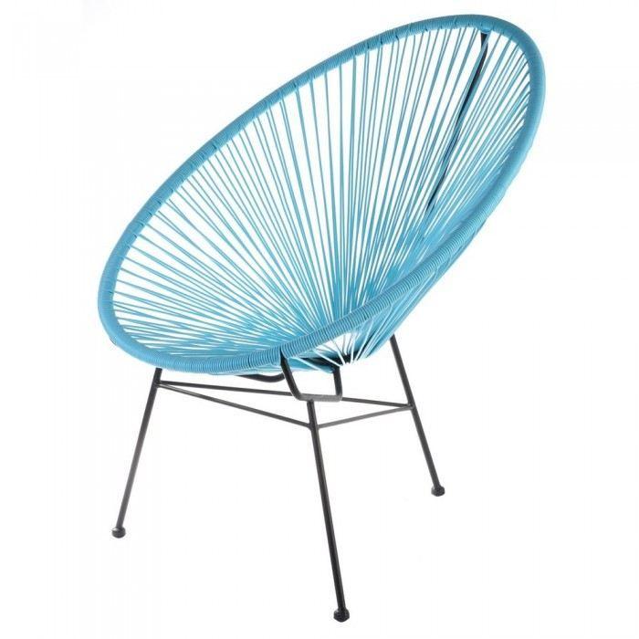 Fauteuil de jardin design SCOOBIDOO Couleur Ble… Achat