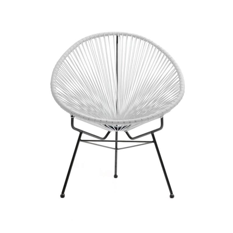 """Fauteuil de Jardin """"Scoubidoo"""" Design Blanc"""