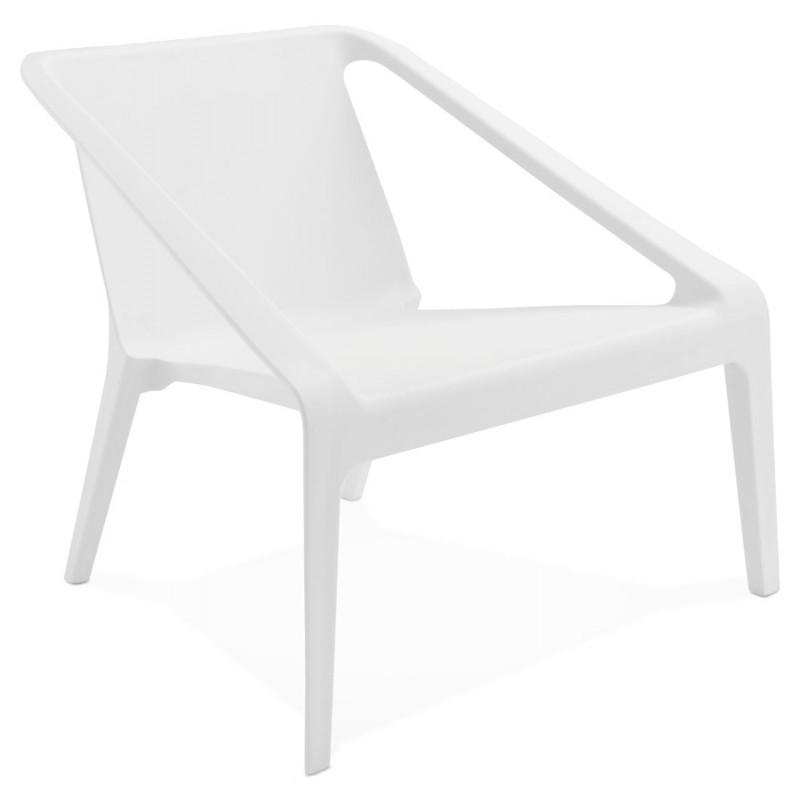 Fauteuil de jardin relax design SUNY blanc