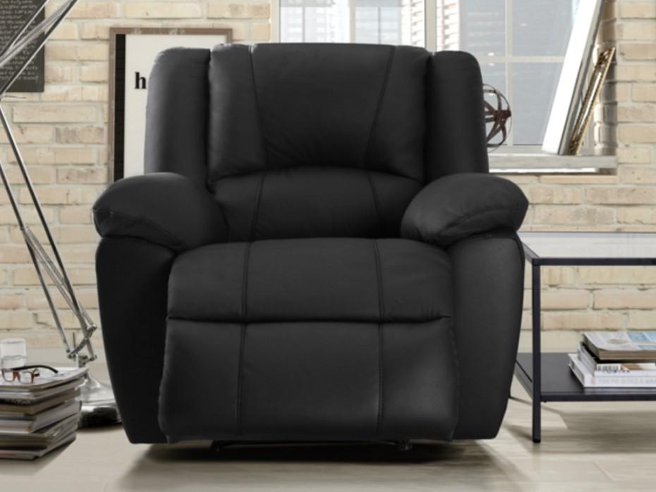 Canapé 3 places et fauteuil relax cuir 3 coloris AROMA
