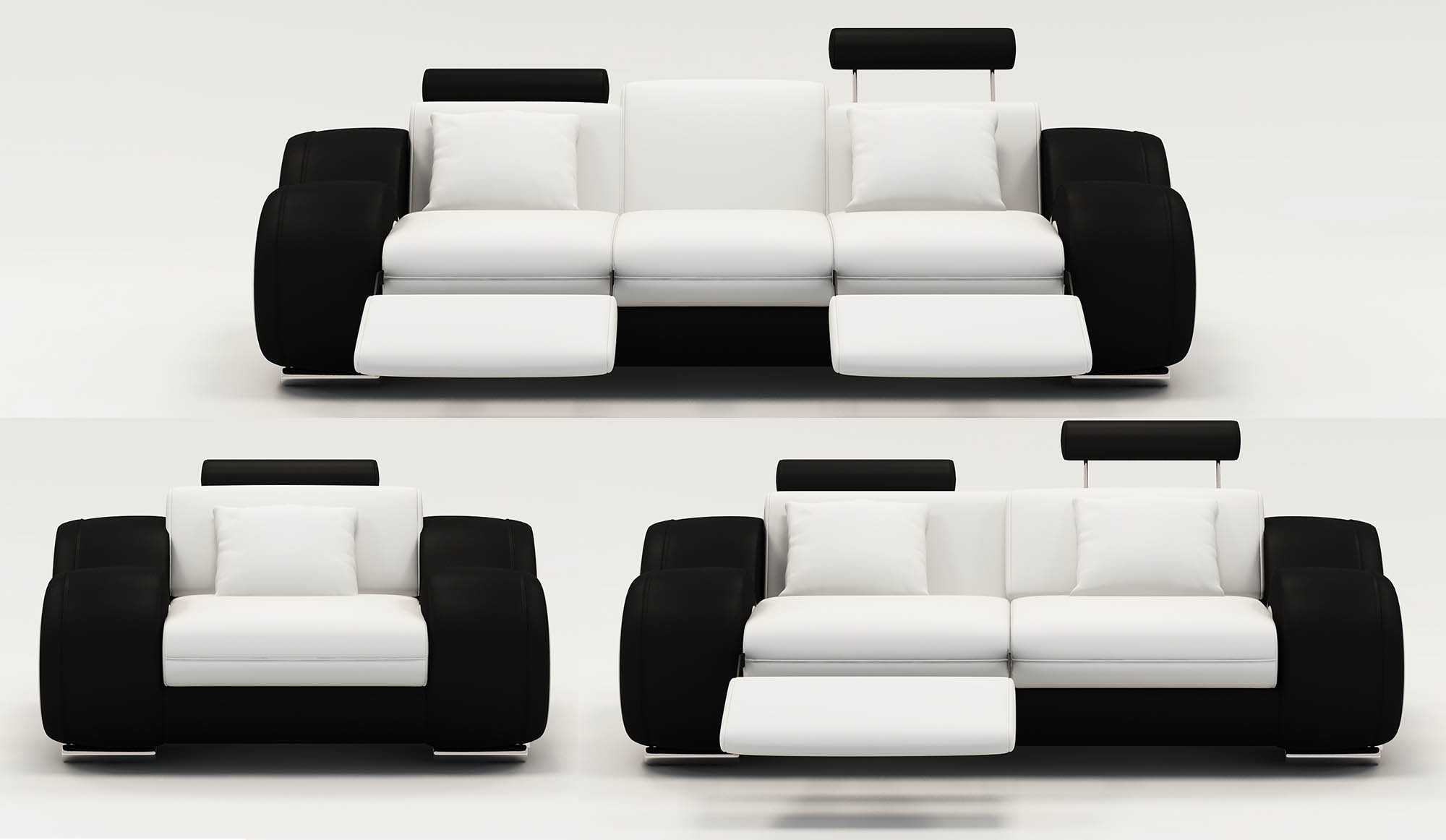 DECO IN PARIS Ensemble canape relax design 3 2 1 places