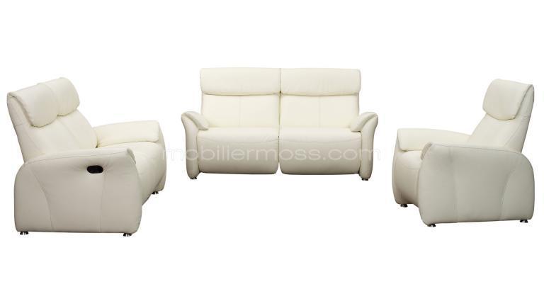 Salon design Ohio 2 canapés 2 places fauteuil