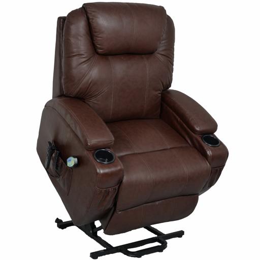 Fauteuil de relaxation massant et chauffant 2 moteurs