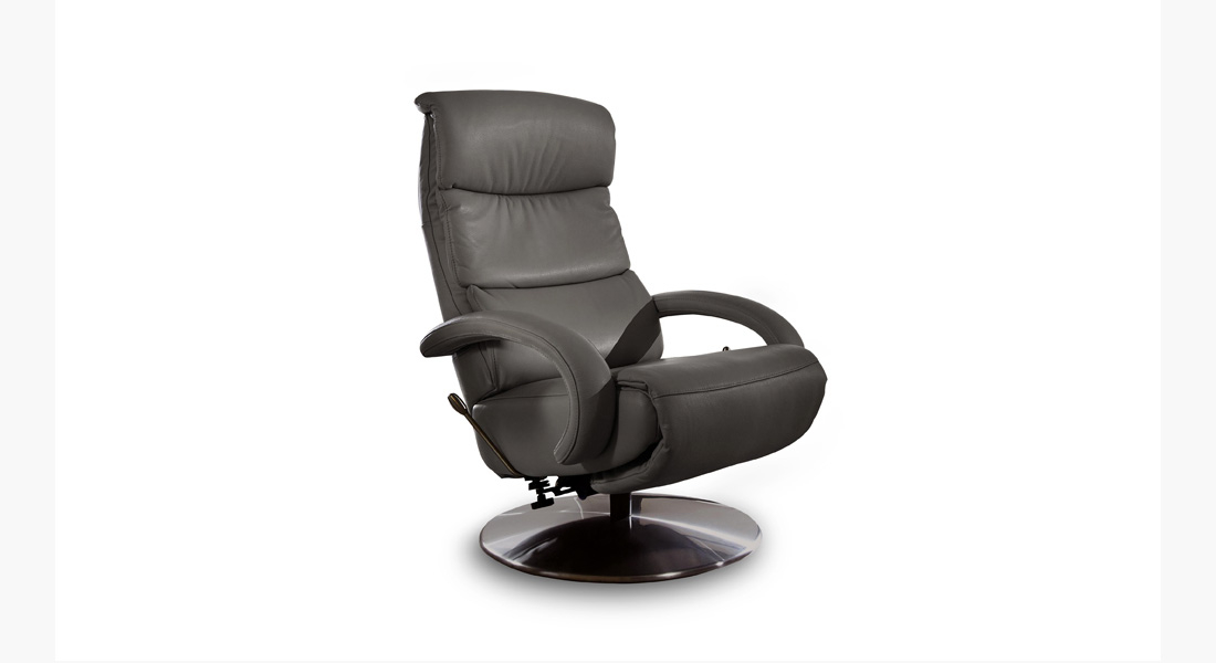 Fauteuil relax Pivotant Cuir Relaxation