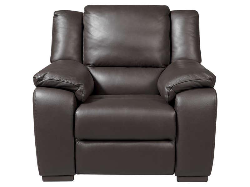 Fauteuil relaxation électrique en cuir SATURDAY coloris