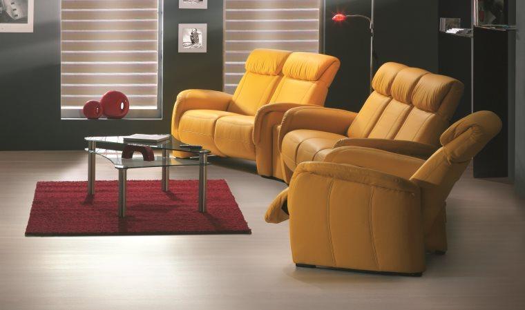 Fauteuil cuir CINÉ HOME Fauteuil design cuir italien