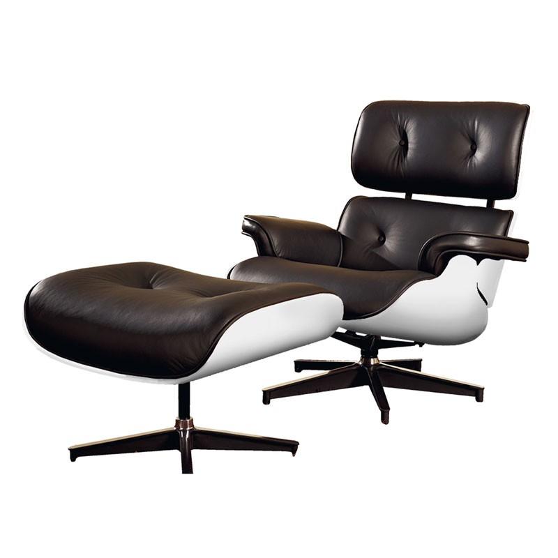 Fauteuil Salon Cuir Fauteuil Cuir Noir Blanc Design Moderne Evans Univers