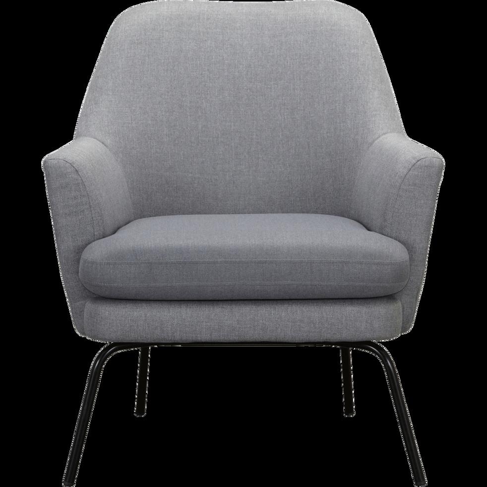 Fauteuil en tissu gris restanque MONA fauteuils et