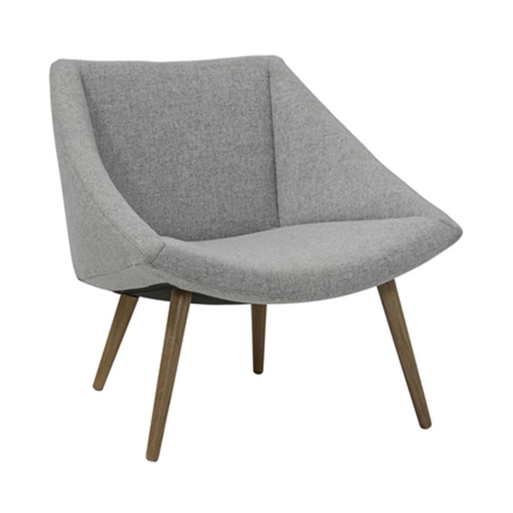 fauteuil tissu gris et pieds bois Elegant Bloomingville