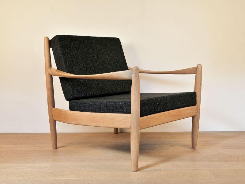 fauteuil scandinave vintage hetre maison simone nantes