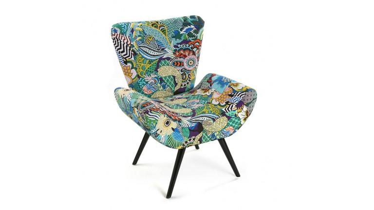 Fauteuil Vinazco en tissu design scandinave vintage