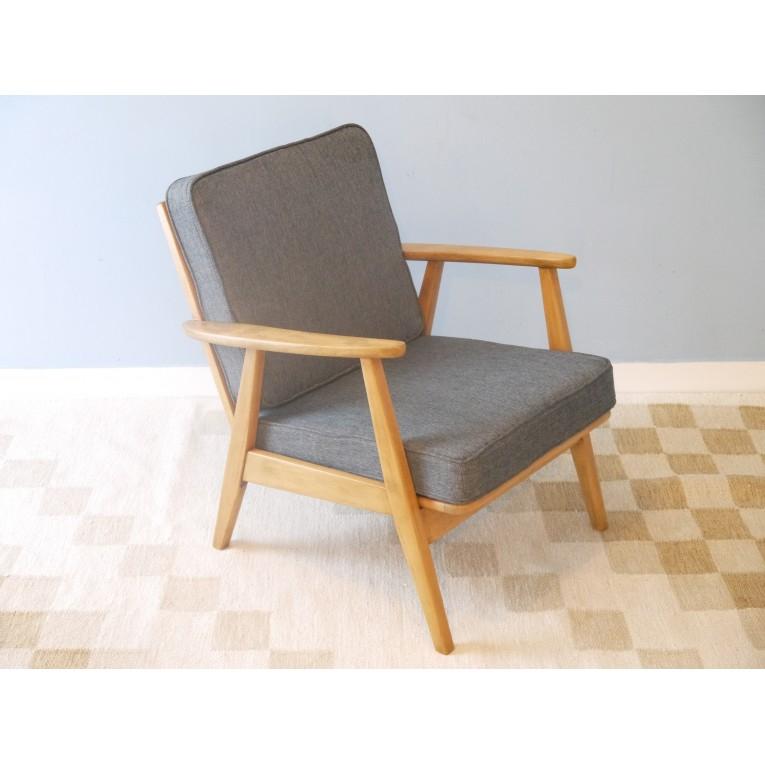 fauteuil vintage design scandinave 50 60 la maison retro