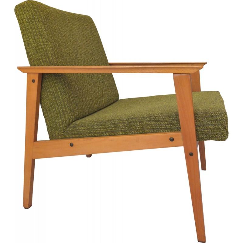 Fauteuil vintage scandinave vert 1960 Design Market